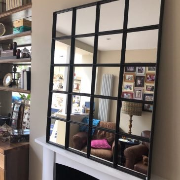 Farmhouse industrial mirror