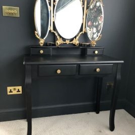 Black & Gold Dressing Table
