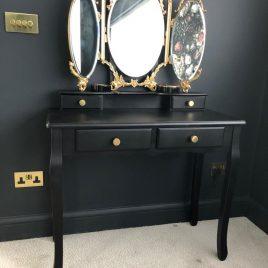 Black & Gold Dressing Table
