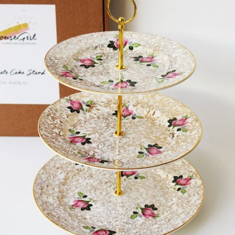 Vintage china upcycled into cake stands
