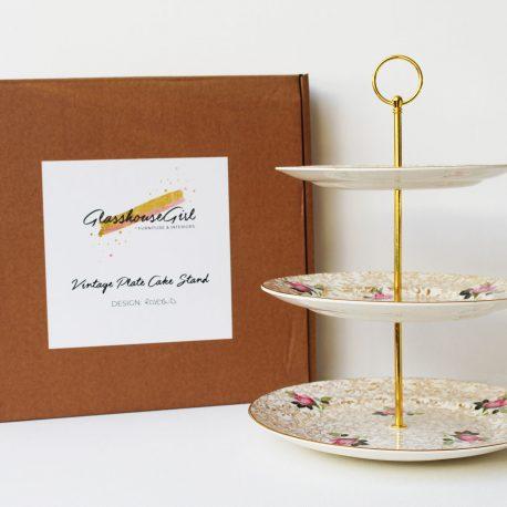 rosebud-pink-gold-vintage-cake-stand