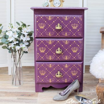 Queen Bee Side Table / Three Drawer Chest