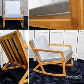 'Off My Rocker' Silver Modern Rocking Chair