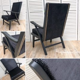 Black Velvet Bristow Easy Chairs