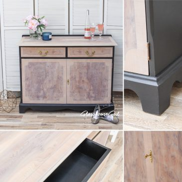 Black & Pale Yew Sideboard / Dresser