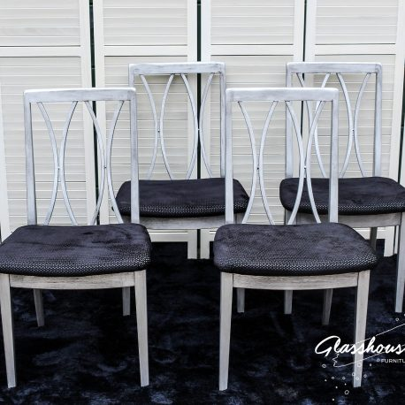 'Age of Aquarius' G-Plan Aged Metal Effect Dining Chairs