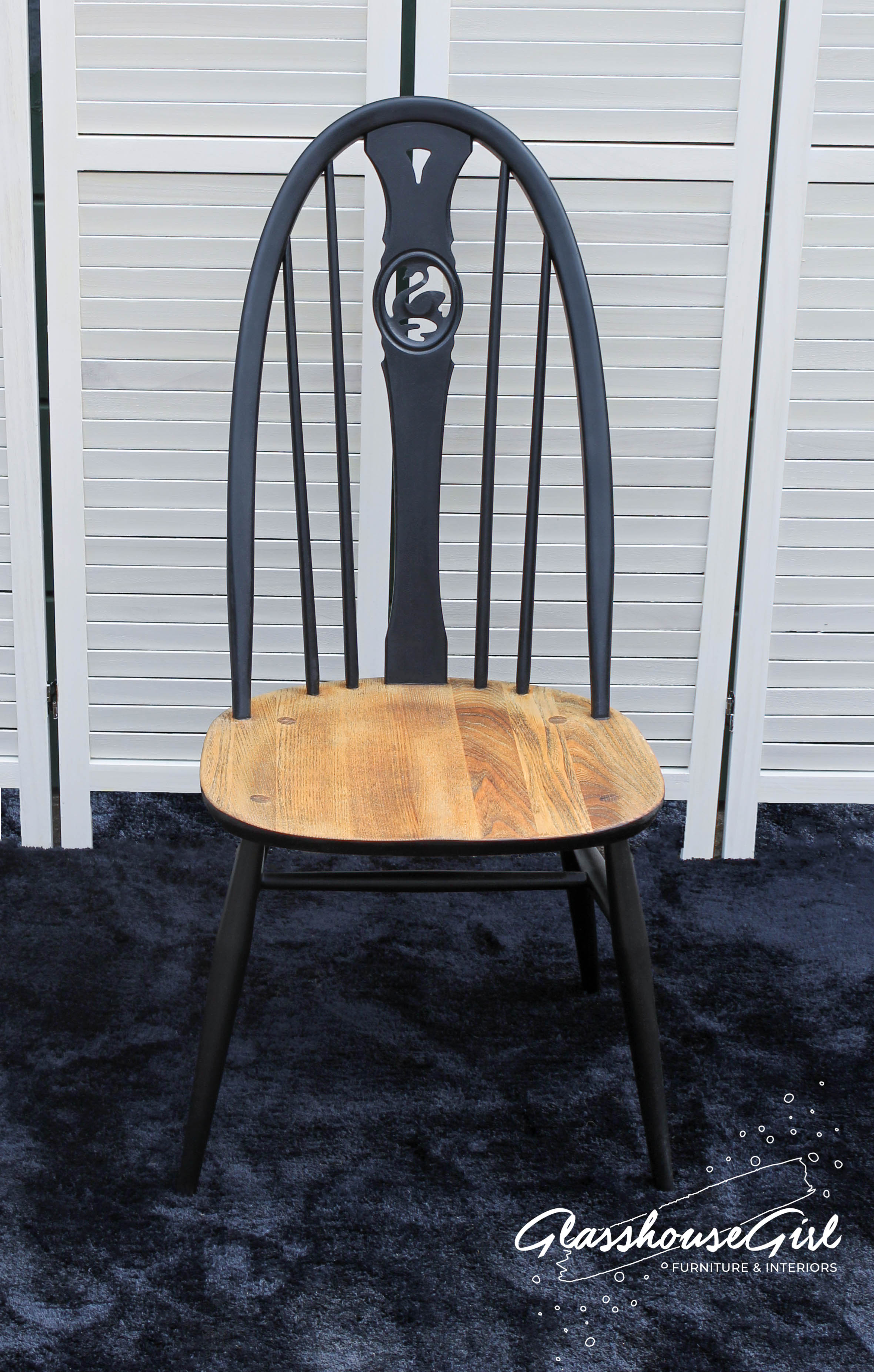 Ercol Swan Highback Dining Chairs