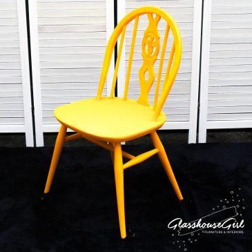Yellow Ercol Fleur de Lys Chair