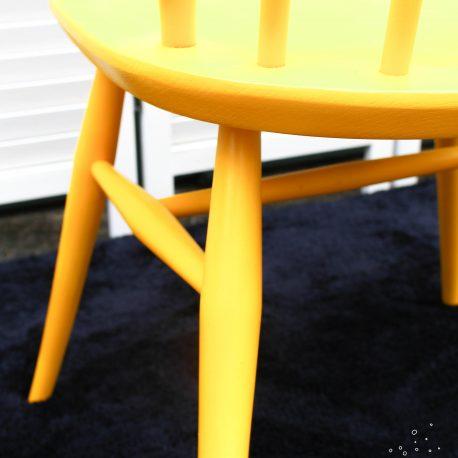 Yellow Fleur de Lys Ercol Chair