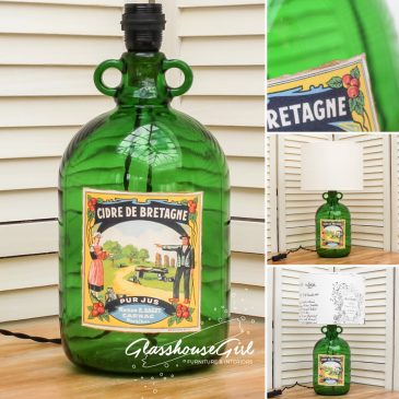 Cidre de Bretagne Bottle Lamp