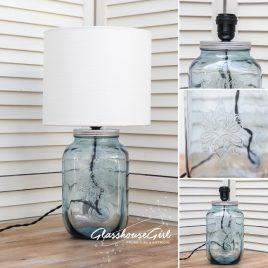Small Blue Square Drinks Dispenser Lamp