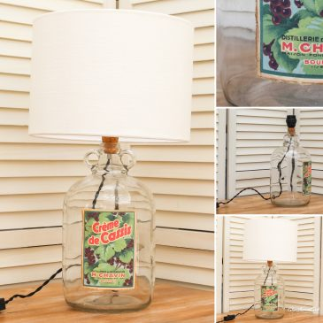 Creme de Cassis Bottle Lamp