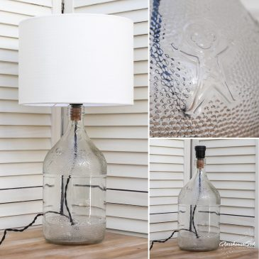 Gingerbread Bottle Lamp
