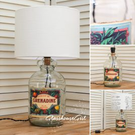 Sirop de Grenadine Bottle Lamp