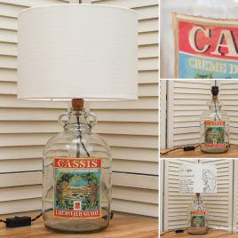 Cassis Guyot Bottle Lamp