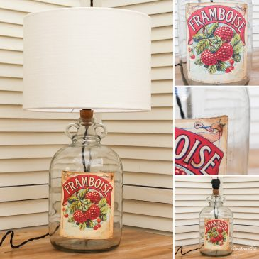 Framboise Bottle Lamp