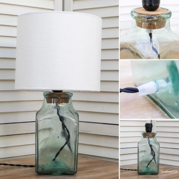 Small Square Jar Lamp