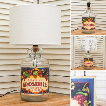 Sirop de Groseille Bottle Lamp