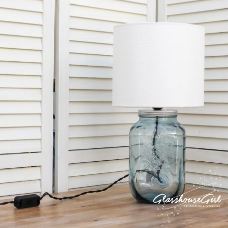 Glasshouse Girl Blue Drinks Dispenser-Lamp