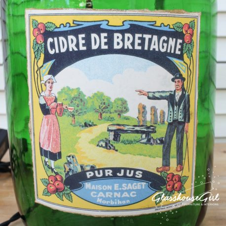 Glasshouse Girl Cidre de Bretagne Bottle Lamp
