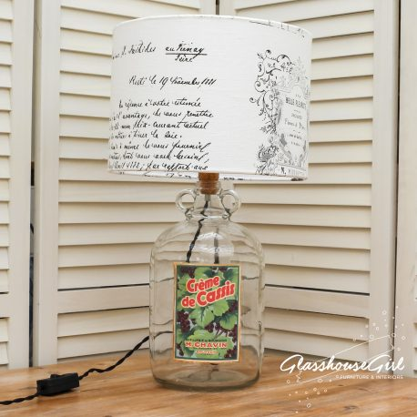 Glasshouse Girl Creme de Cassis Bottle Lamp