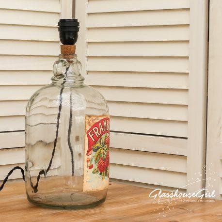 Glasshouse Girl Framboise Bottle Lamp