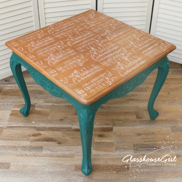 Nolite te Bastardes Carborundorum Coffee Table – Serena Teal