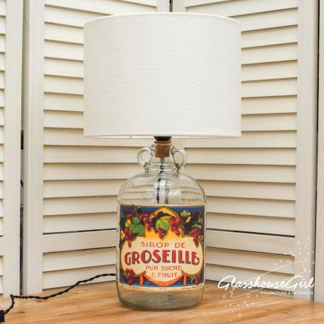 Glasshouse Girl Sirop de Groseille Bottle Lamp