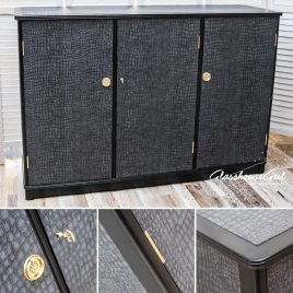 Black 'Croc' Storage Sideboard