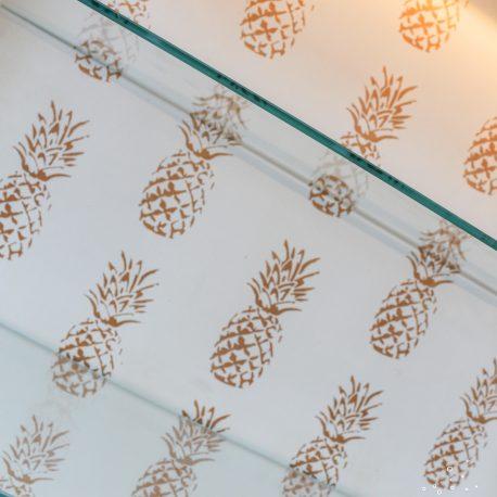 Glasshouse Girl Gold Pineapples Display Case