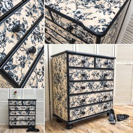 Dalston Rose Solid Pine Chest of Drawers / Dresser