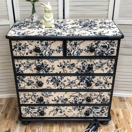 Dalston Rose Upcycled Dresser Chest of Drawers Glasshouse Girl