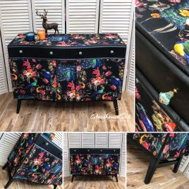 Dark Peacock Bow Front Sideboard