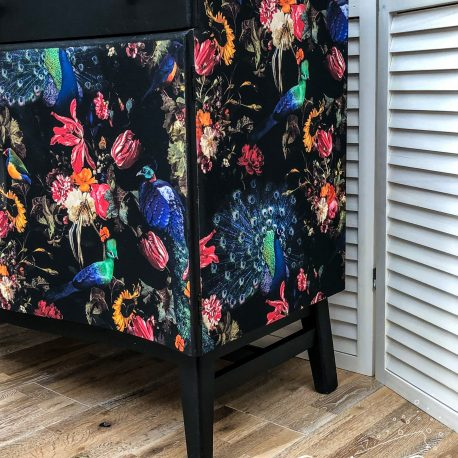 glasshouse-girl-dark-peacock-decoupage-shabby-luxe-sideboard-6