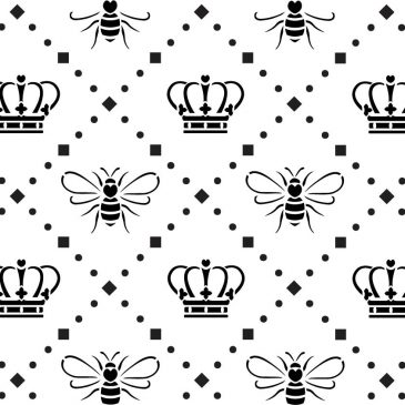 """Queen Bee Lattice"" Stencil – A3"