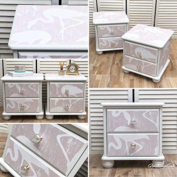 'Flamingo' Bedside Cabinets