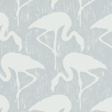 Sanderson Vintage II Flamingos in Dove/Chalk