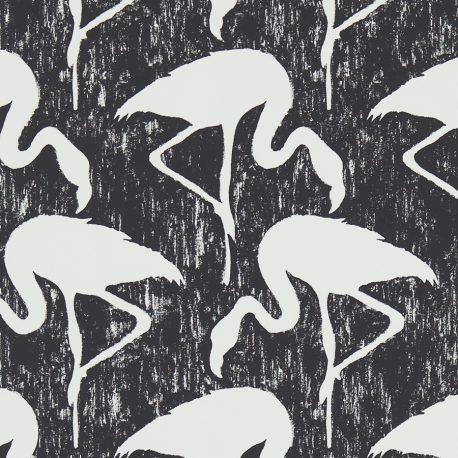 Sanderson Vintage II Flamingos in Ebony/Stone