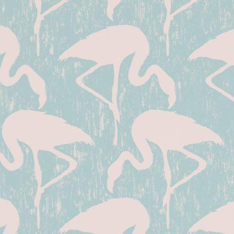 Sanderson Vintage II Flamingos in Turquoise/Pink
