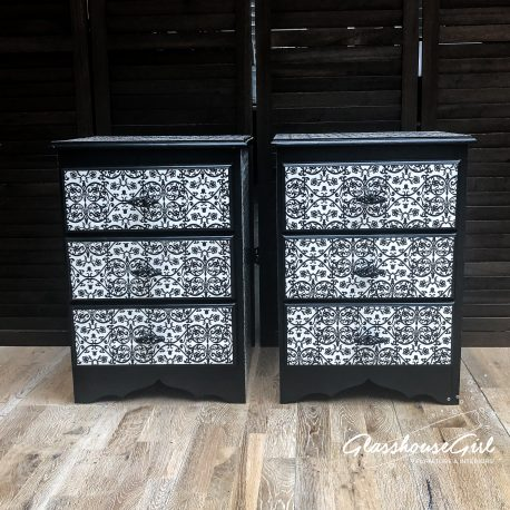 glasshouse-girl-black-white-floral-monochrome-pattern-solid-pine-bedside-cabinets-1