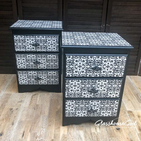 glasshouse-girl-black-white-floral-monochrome-pattern-solid-pine-bedside-cabinets-9