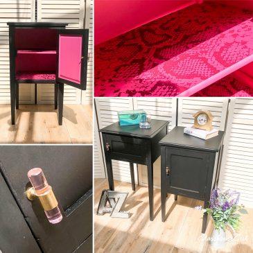 'Snakebite in Black' Side Tables / Cabinets