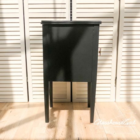 Black 'Snakebite in Pink' Side Table Cabinets