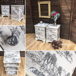 Ivory Cream 'Safari' Bedside Cabinet(s)