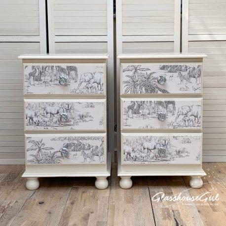 Safari Upcycled Pine Bedside Tables