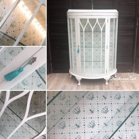 glasshouse-girl-teal-ivory-queen-bee-stencilled-display-cabinet-shabby-chic